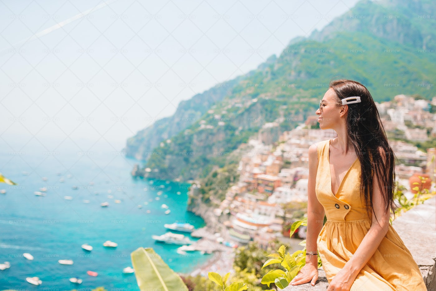 Positano Summer Holiday: Stock Photos