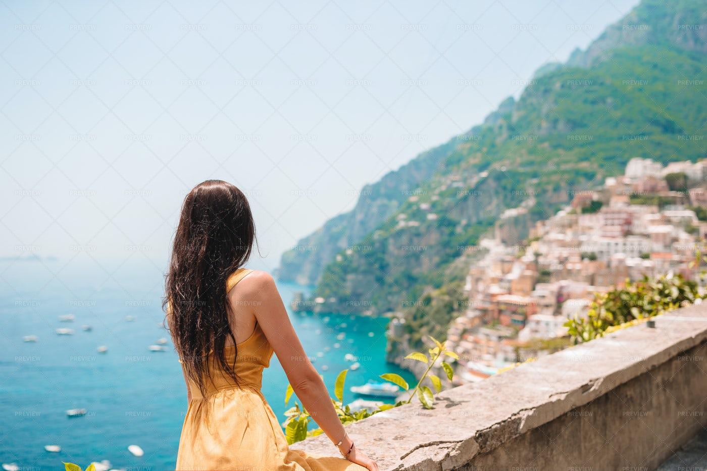 Overlooking The Italian Coast: Stock Photos
