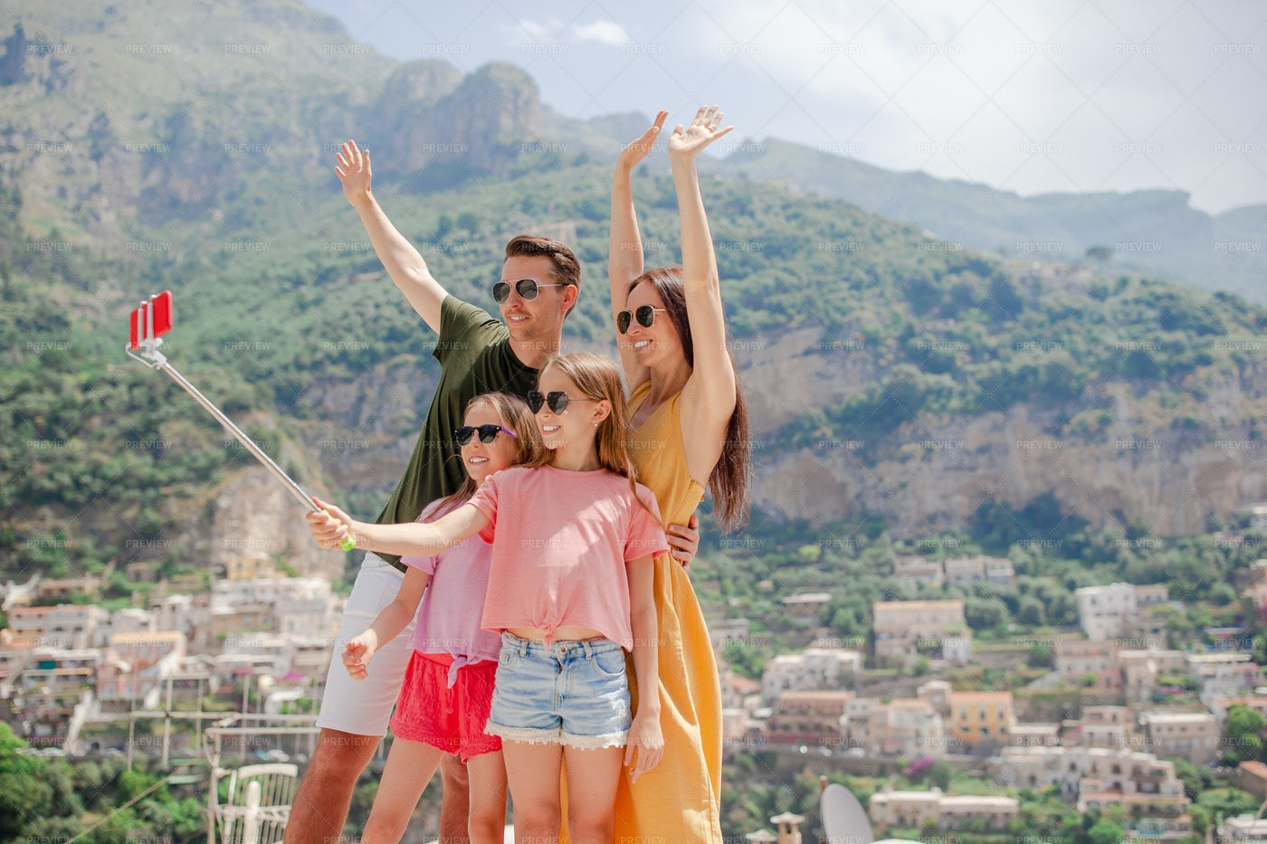 Family Vacation Selfie: Stock Photos