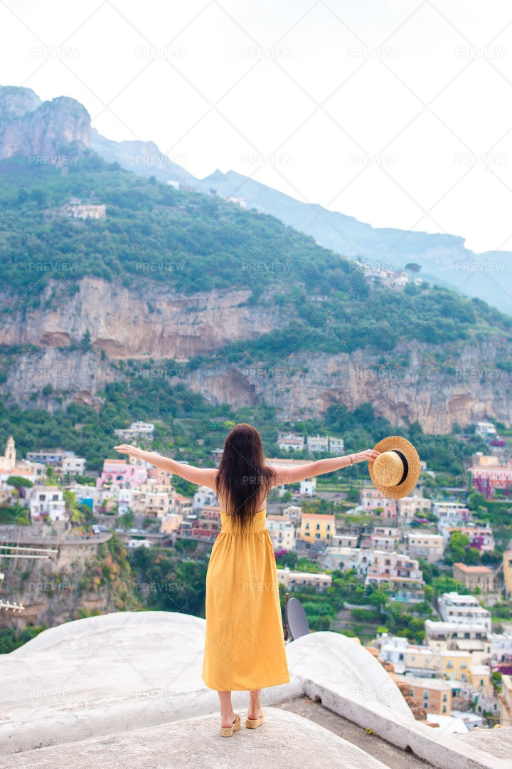 On The Italian Cliffs: Stock Photos