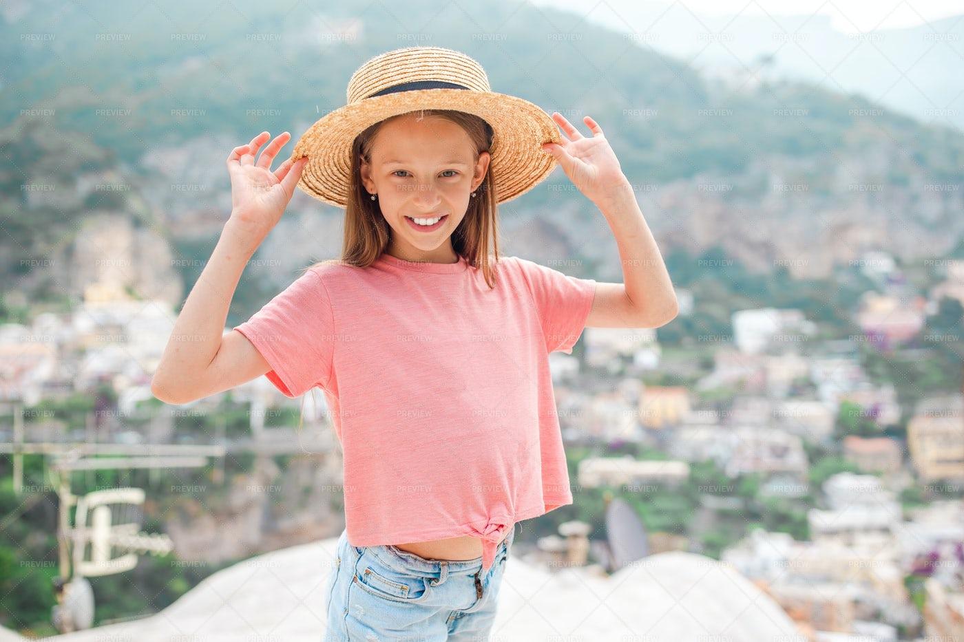 Girl On The Cliffs: Stock Photos