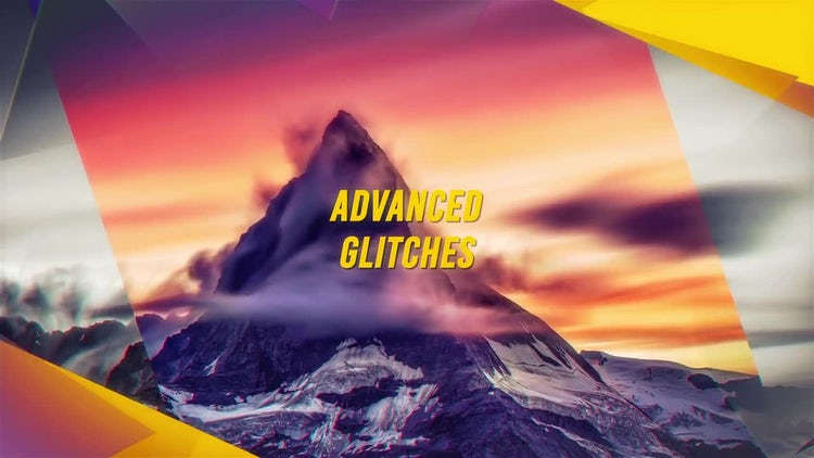 Cinematic Glitch Slideshow: After Effects Templates