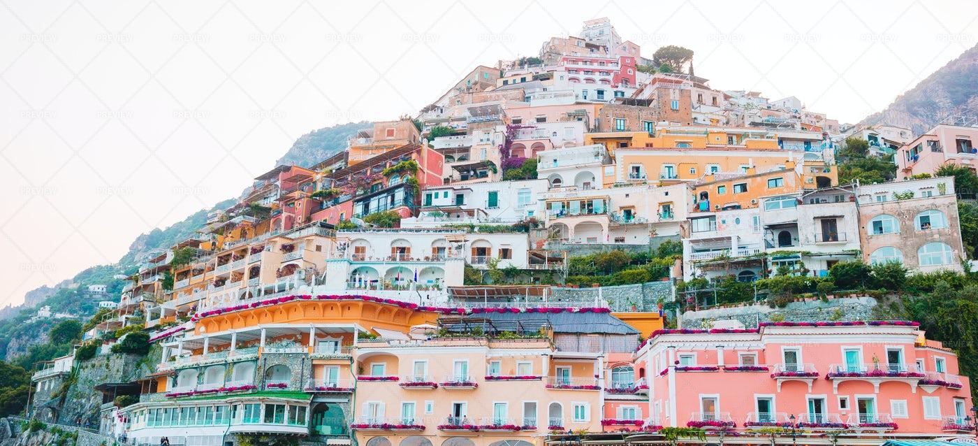 Italian Coastal Architecture: Stock Photos