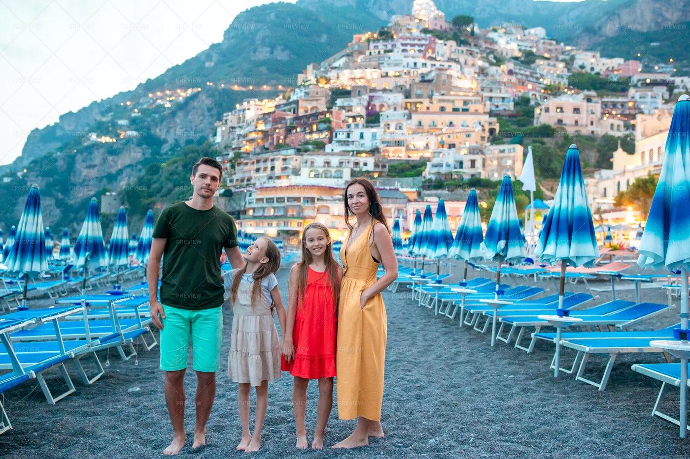 Family In Positano, Italy: Stock Photos