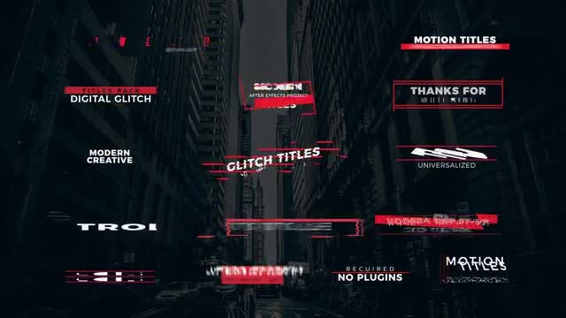 15 Stylish Glitch Titles: After Effects Templates
