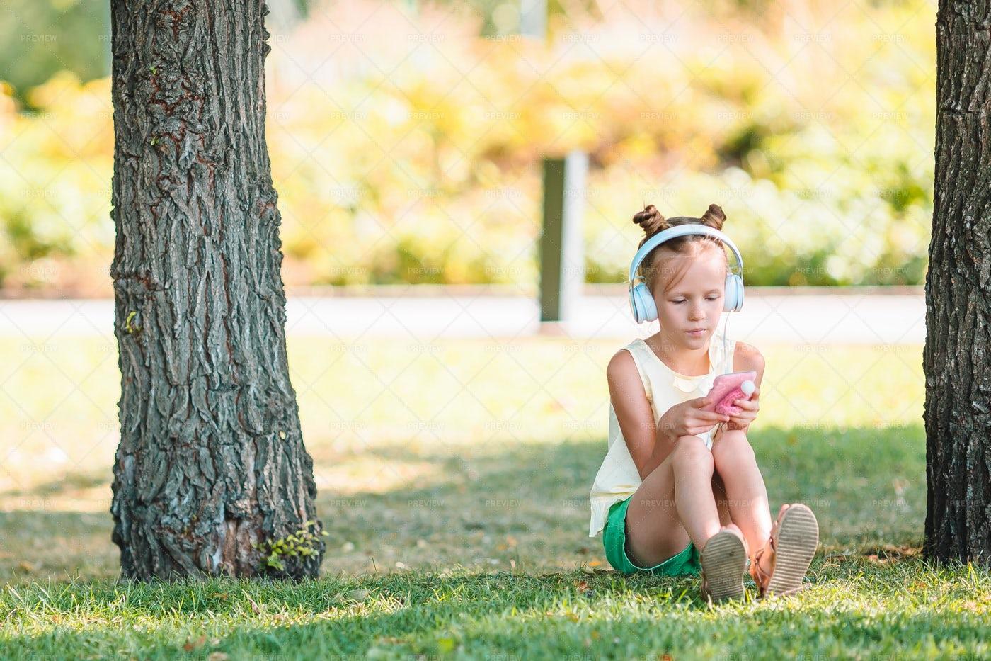 Girl Listening To Music: Stock Photos