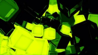 Glowing Cubes VJ Loop Pack: Motion Graphics