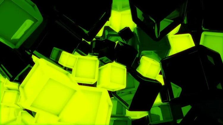 Glowing Cubes VJ Loop Pack: Motion Graphics