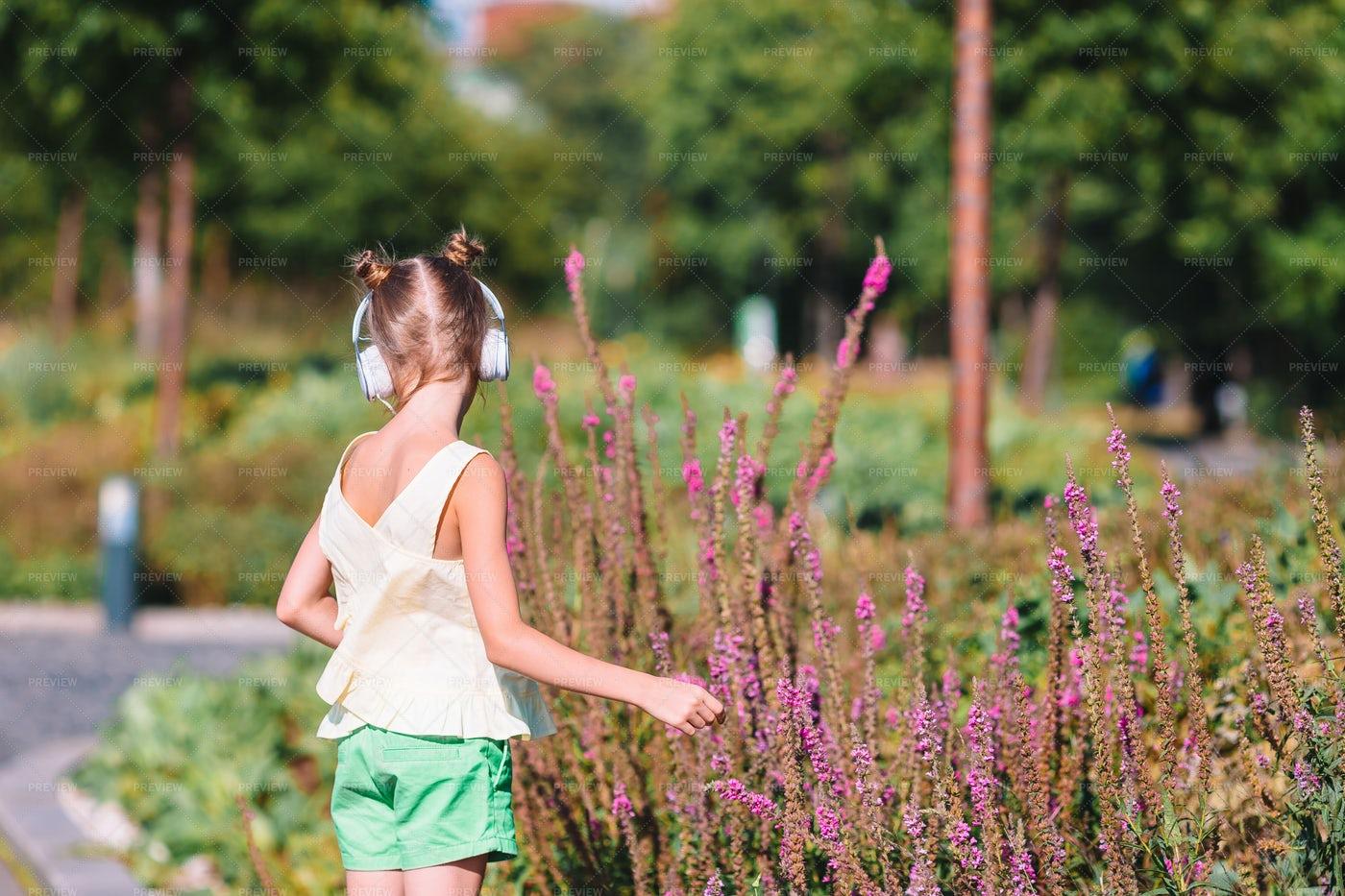 Girl Dancing To Music: Stock Photos