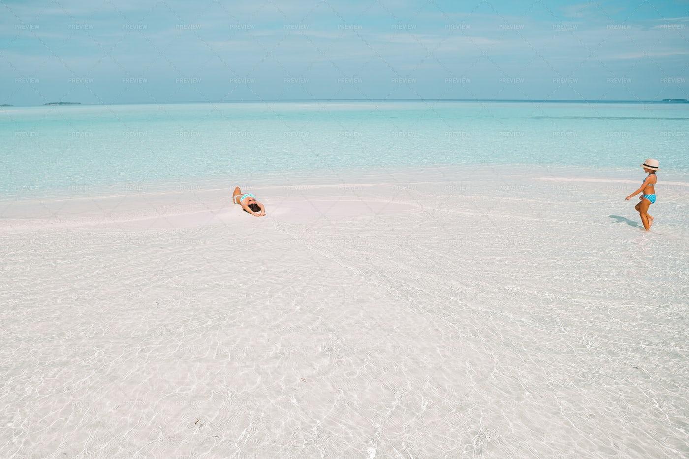 Enjoying The Caribbean Sea: Stock Photos