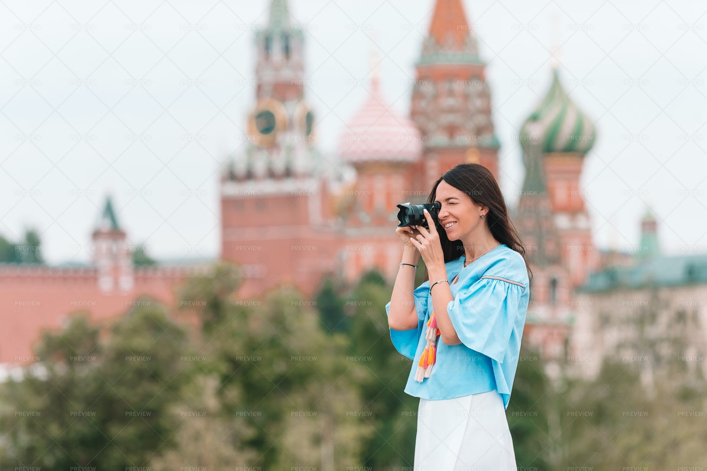 Sightseeing In Moscow: Stock Photos