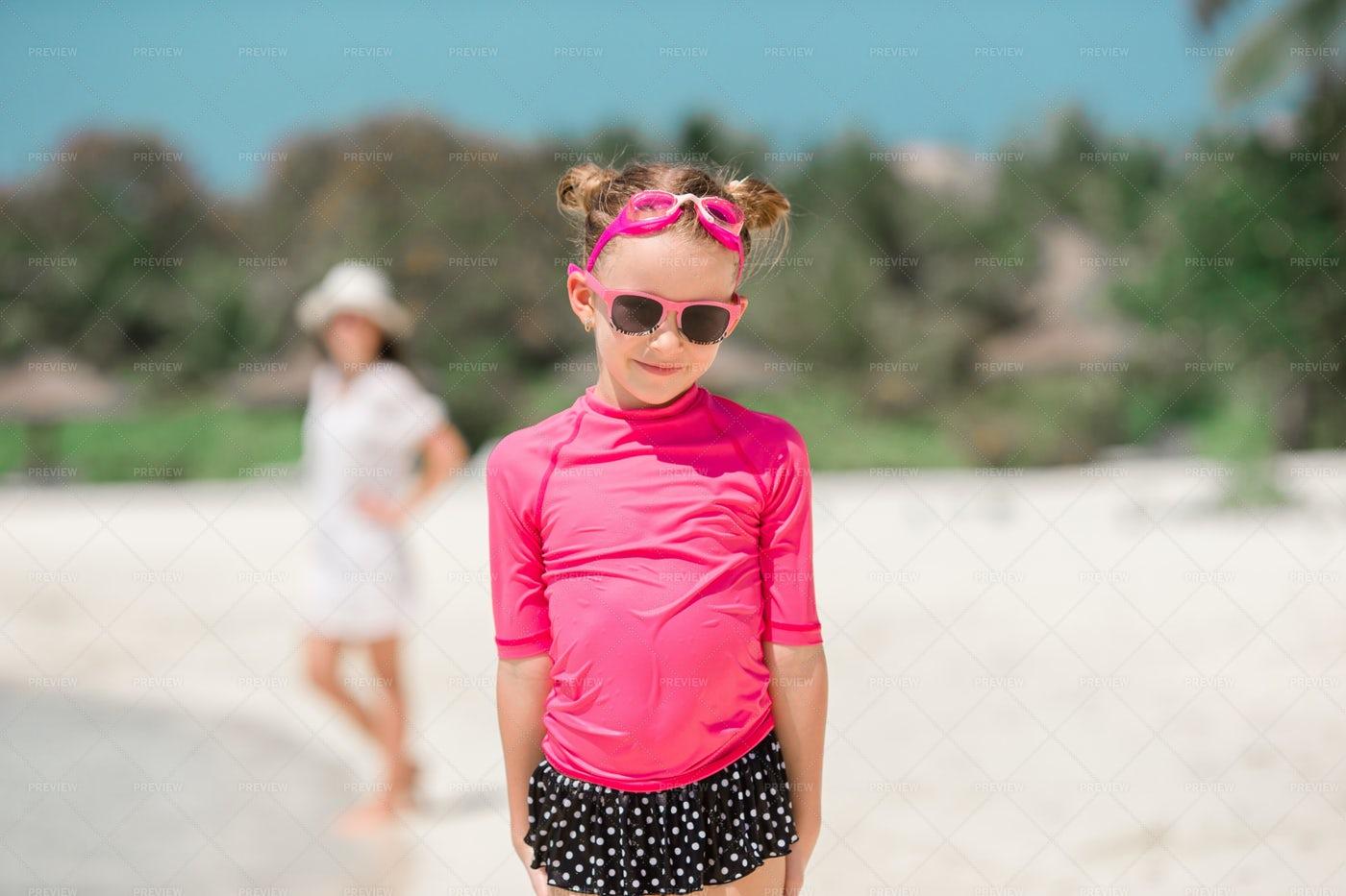 Little Girl At The Beach: Stock Photos