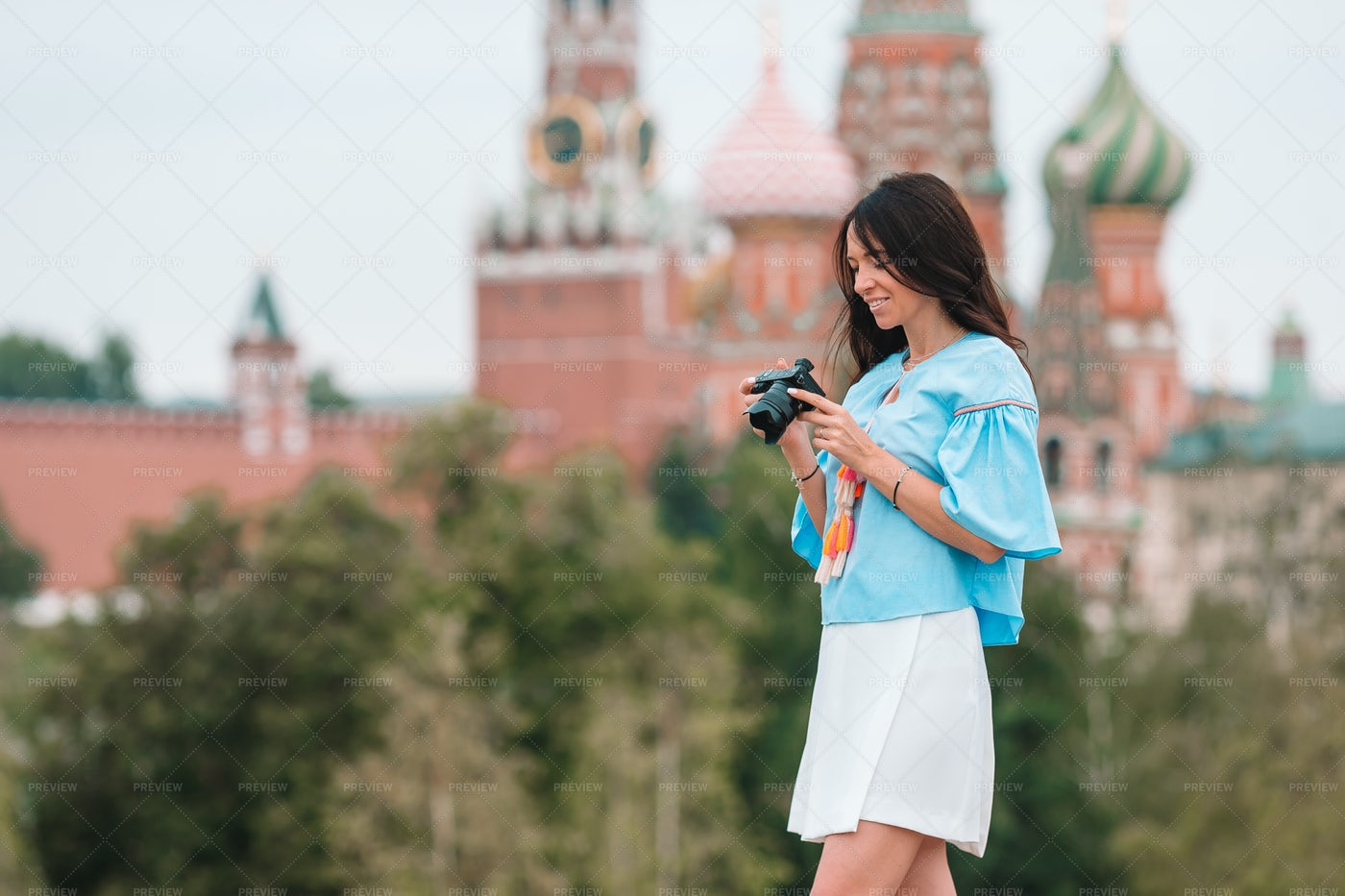 Tourist In Red Square: Stock Photos