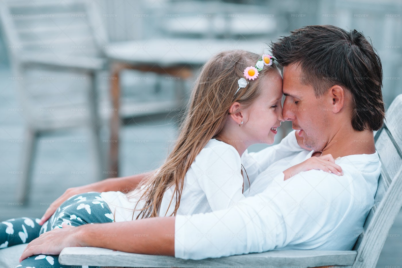 Loving Father And Daughter: Stock Photos