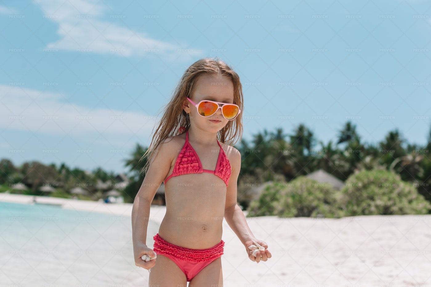 Kid On The Beach: Stock Photos