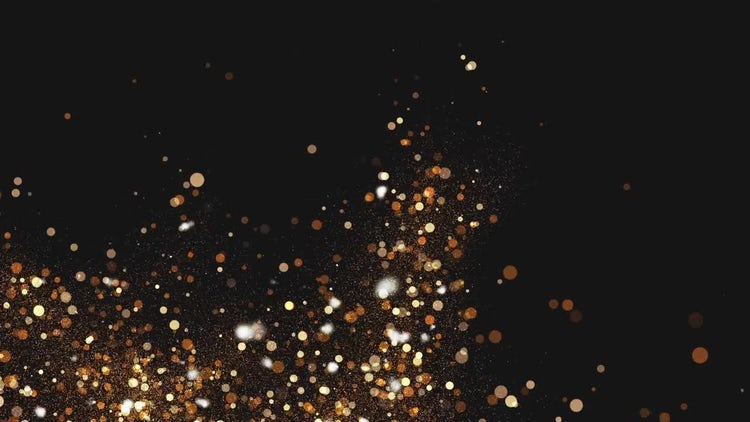 Gold Particles Background: Stock Motion Graphics