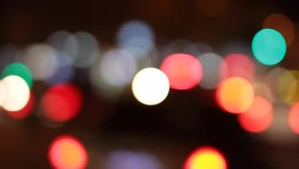Bokeh Lights: Stock Video