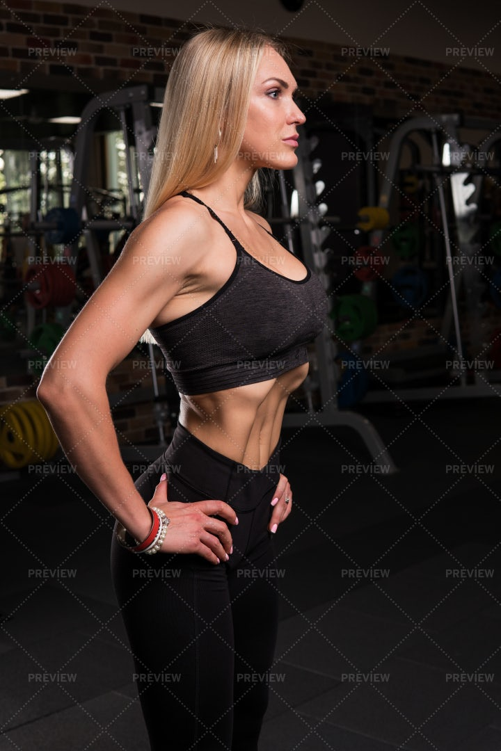 Vacuum Exercise To Stomach: Stock Photos