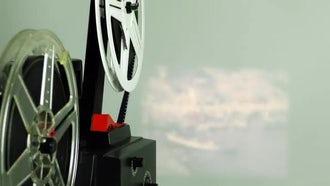 Vintage Film Rolling 1: Stock Video