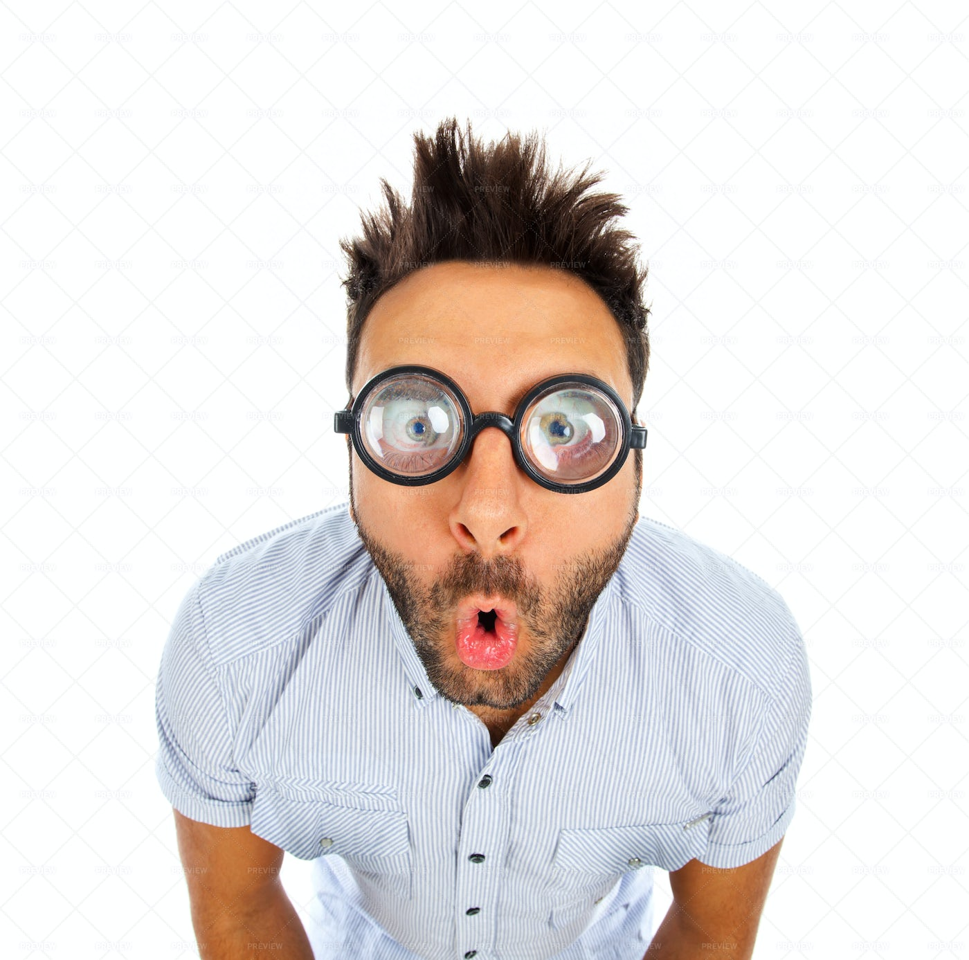 Man With A Funny Expression: Stock Photos