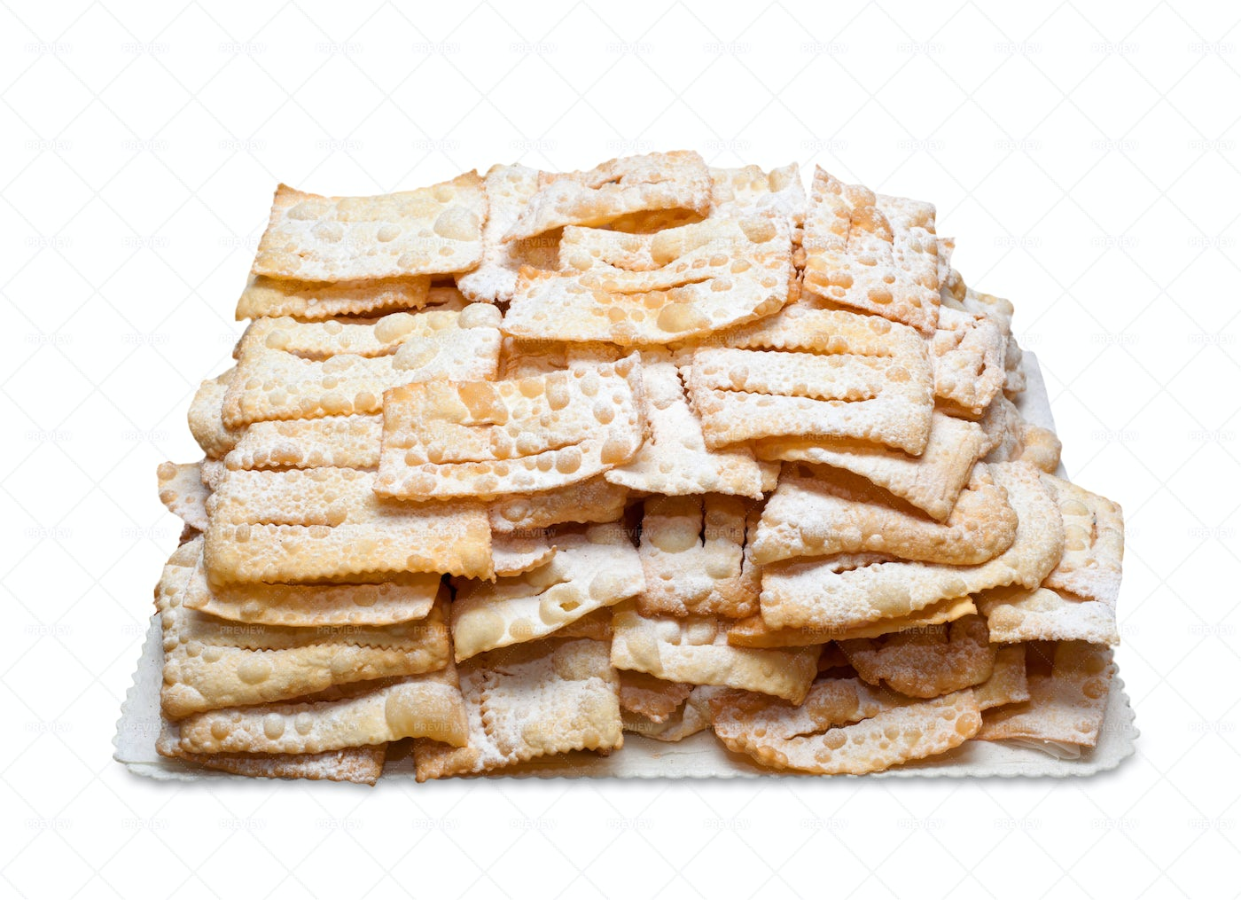 Fried Chiacchiere: Stock Photos