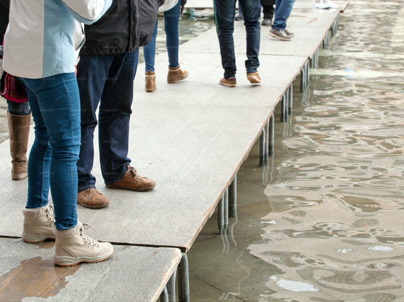 Pier In Venice: Stock Photos