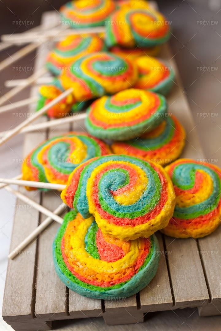 Pinwheels Lollypop: Stock Photos