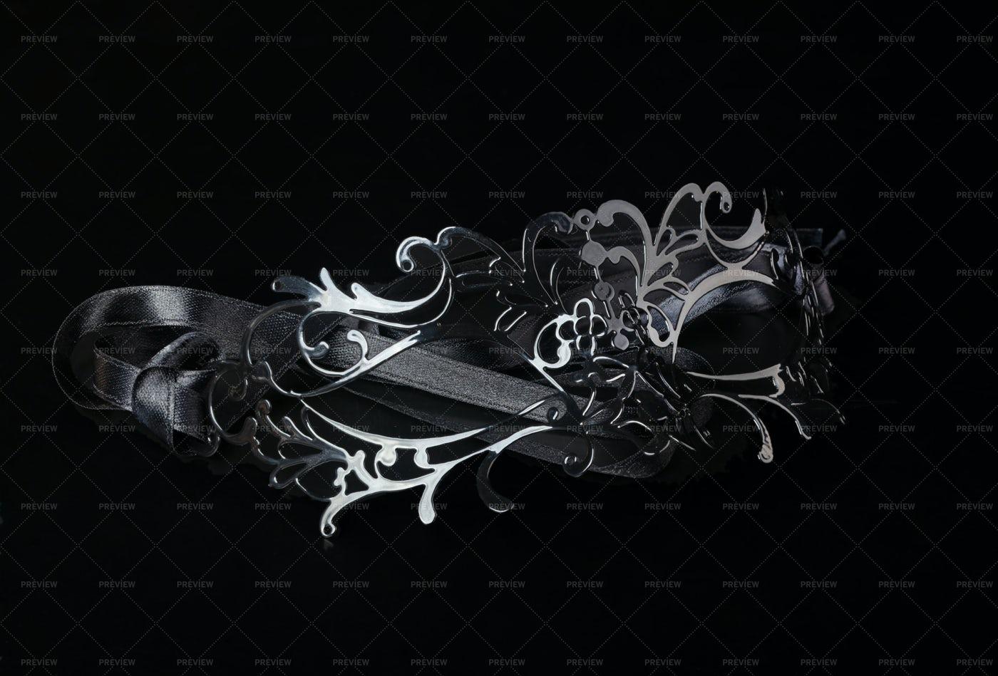 Silver Venetian Mask: Stock Photos