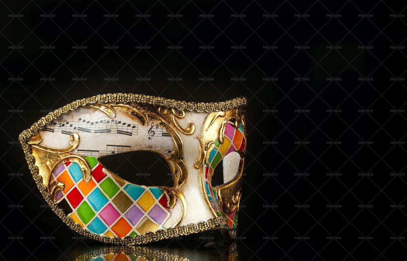 Harlequin Mask: Stock Photos