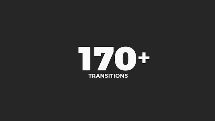 170+ Transitions: After Effects Templates
