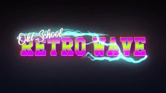 Retro Wave Intro - Old School: After Effects Templates