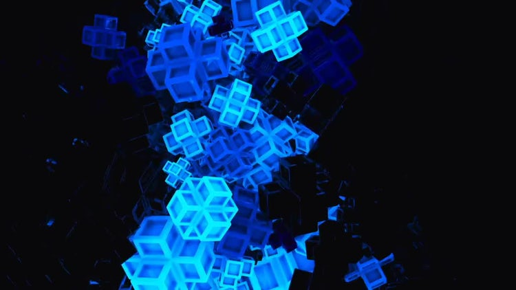 Glowing Square Forms Pack: Motion Graphics