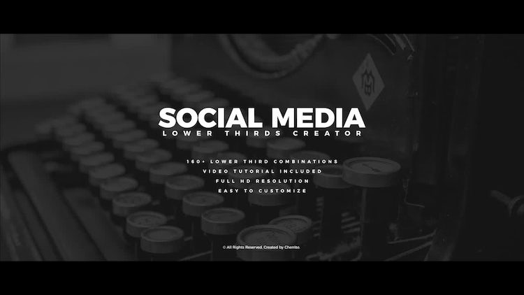 Social Media Lower Thirds Creator: Premiere Pro Templates