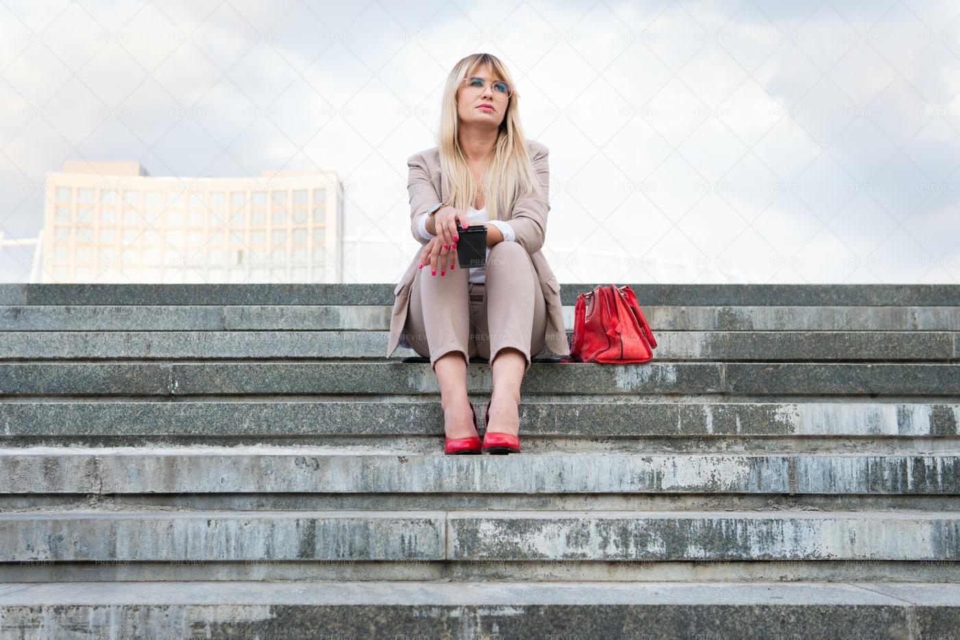 Businesswoman's Coffee Break: Stock Photos