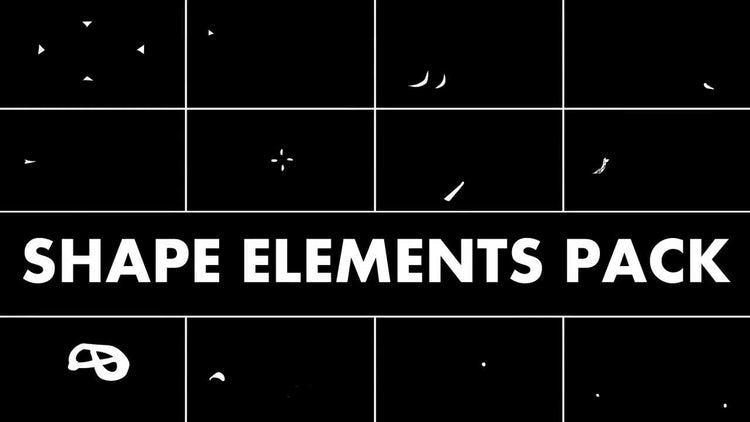 Hand Drawn Shape Elements: Stock Motion Graphics