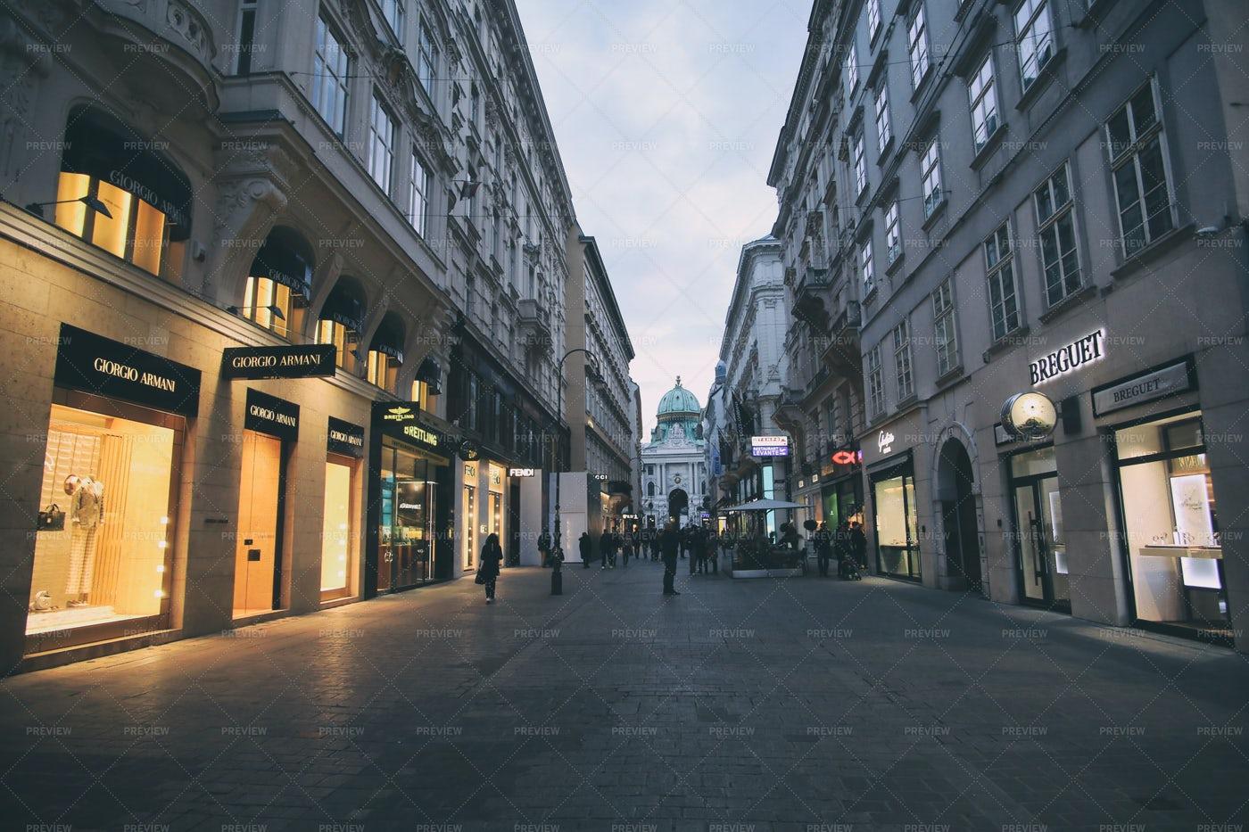 Market Streets Of Vienna: Stock Photos