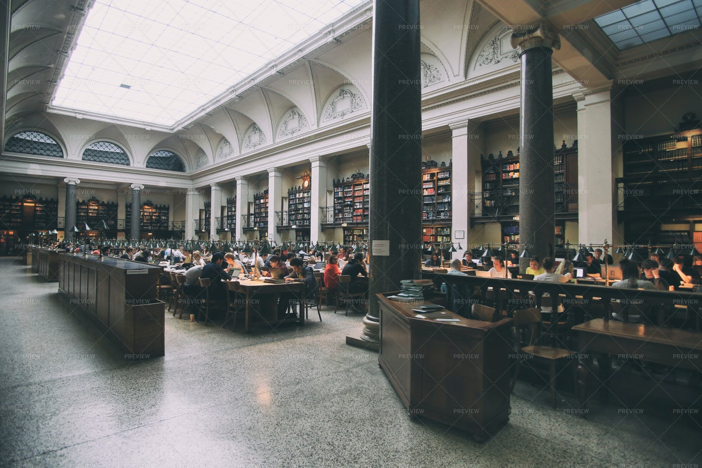 Vienna Library Interior: Stock Photos