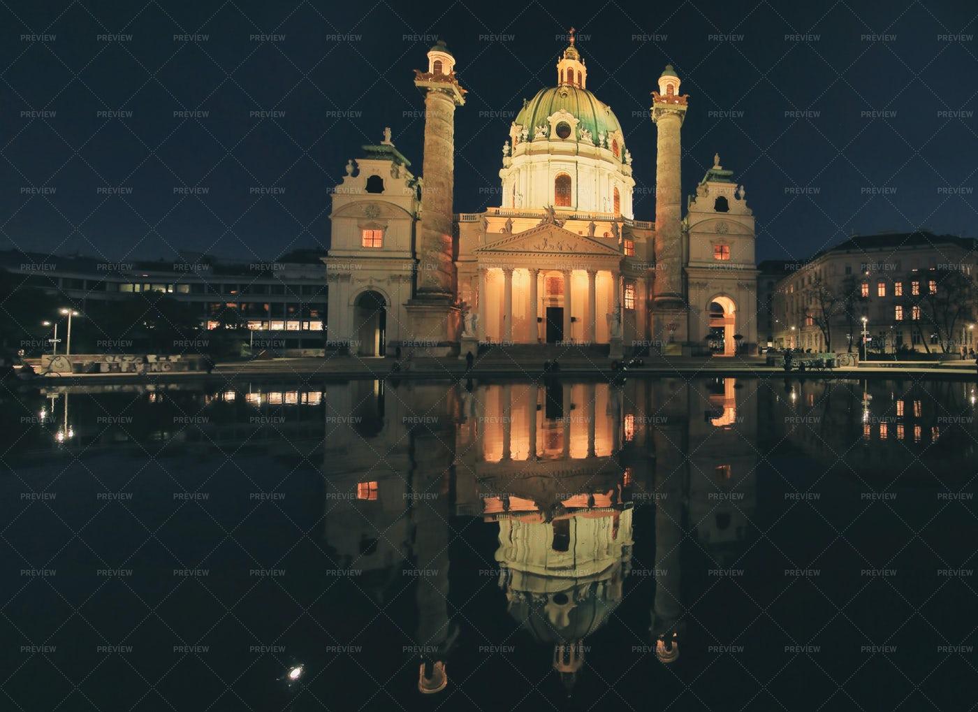 Vienna At Night: Stock Photos