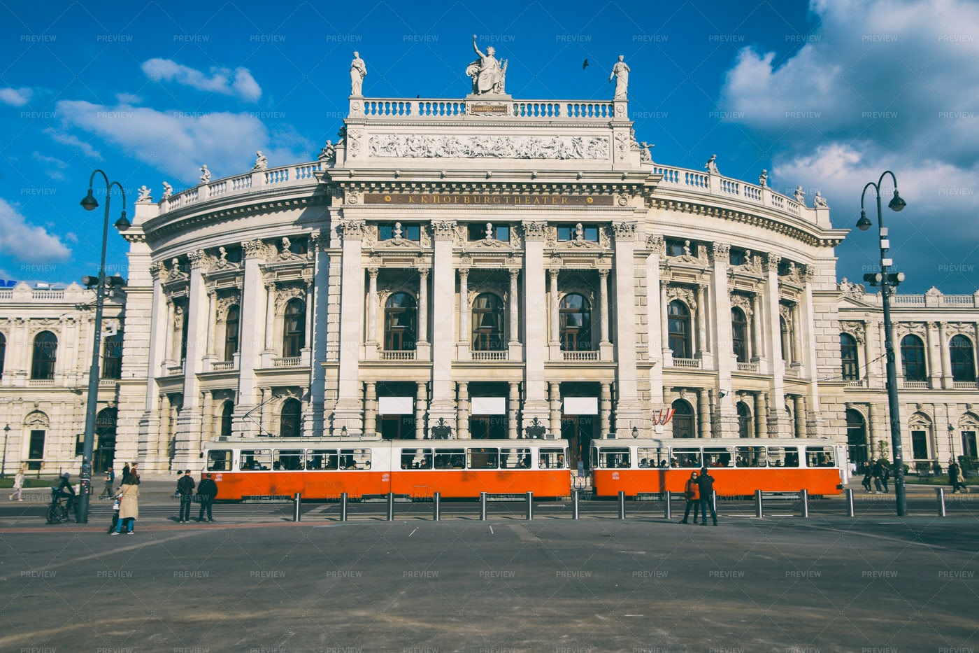 Burgtheater In Vienna: Stock Photos