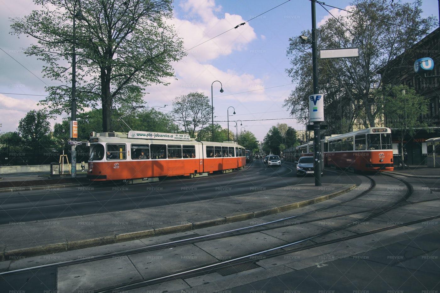 Vienna Trams: Stock Photos