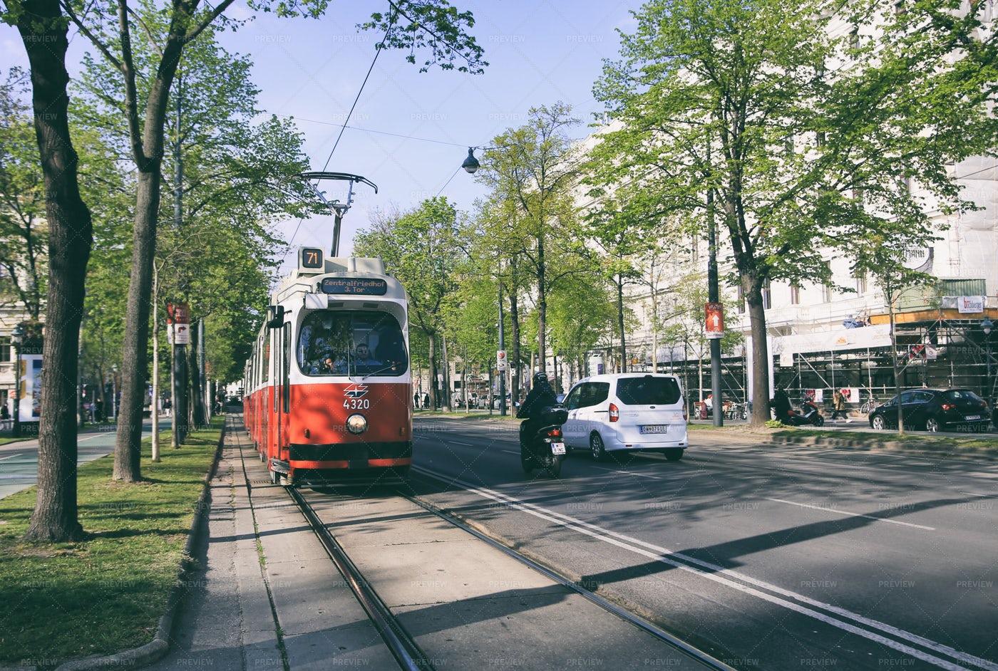 Vienna Tram System: Stock Photos