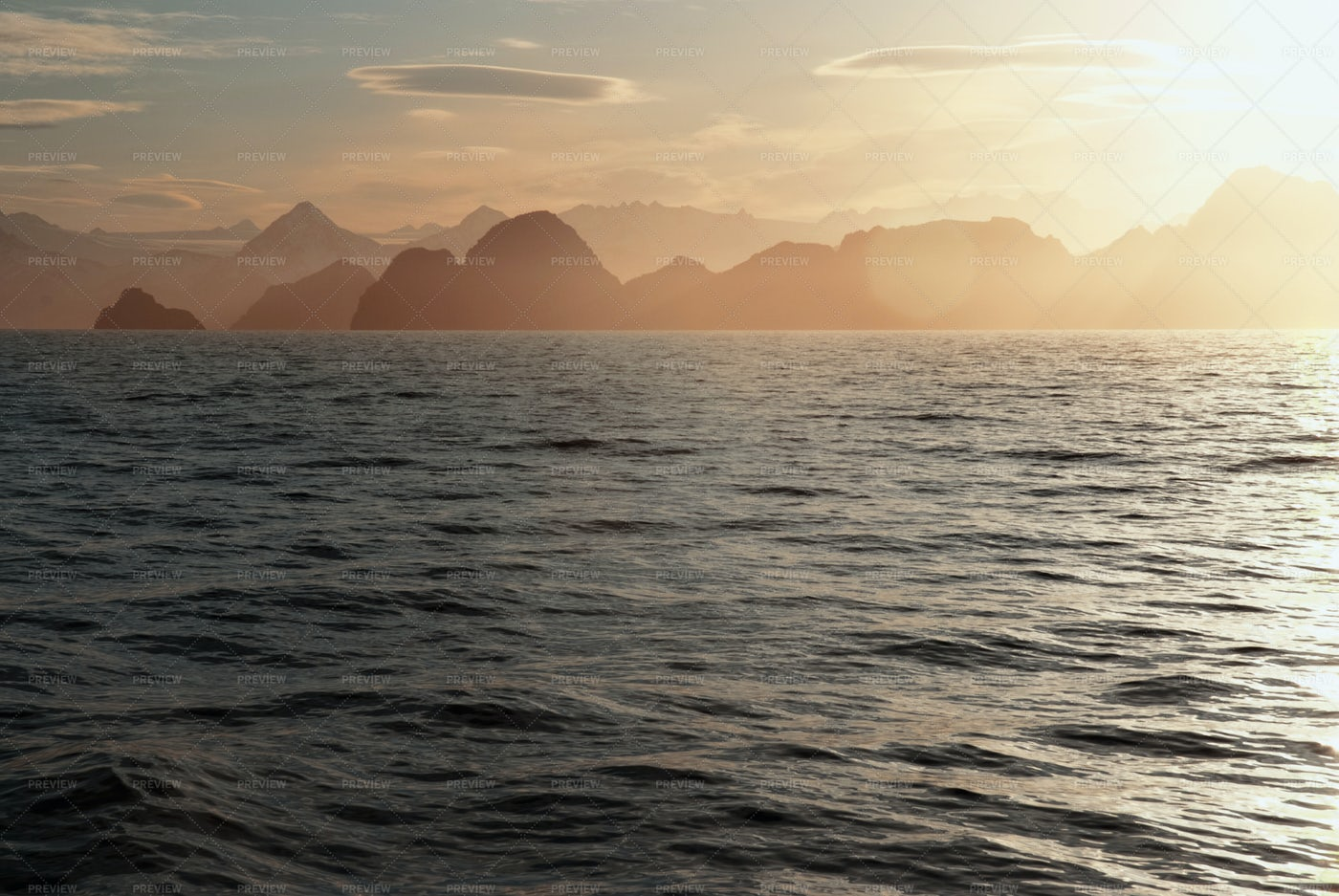 Alaskan White Nights: Stock Photos