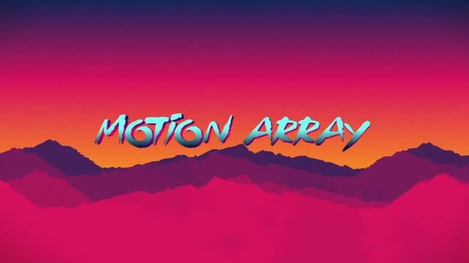 Free Retro Wave Intro Flat Design: After Effects Templates