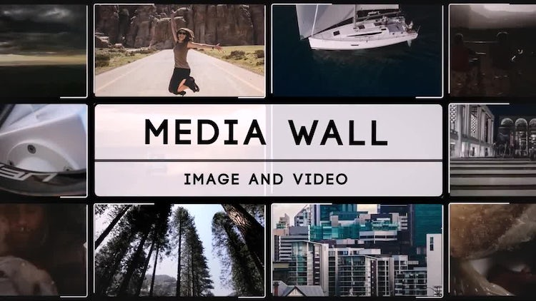 Media Wall : After Effects Templates