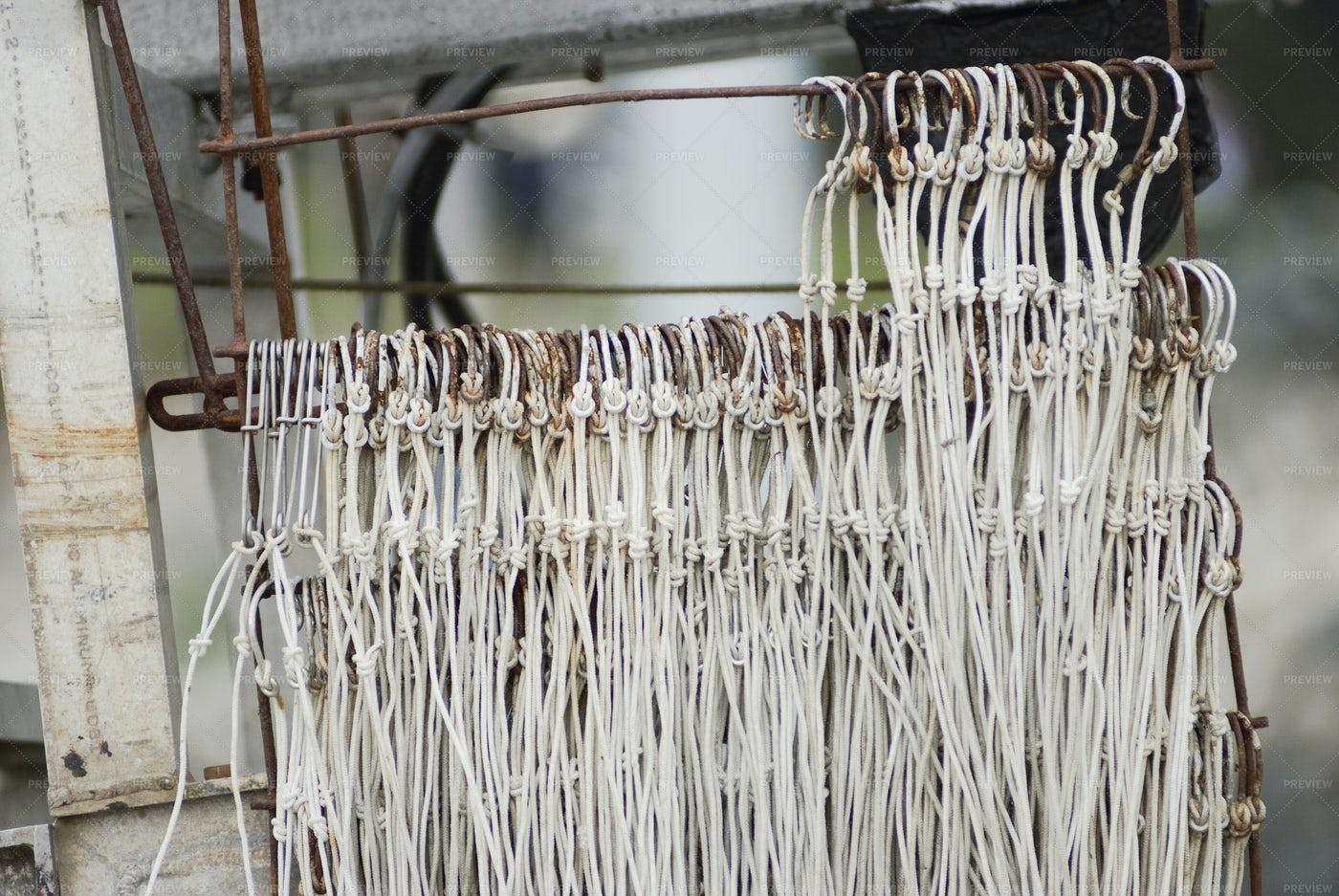 Rusty Fishing Hooks: Stock Photos