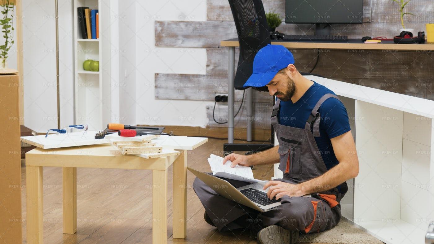 Registering Warranty On Laptop: Stock Photos
