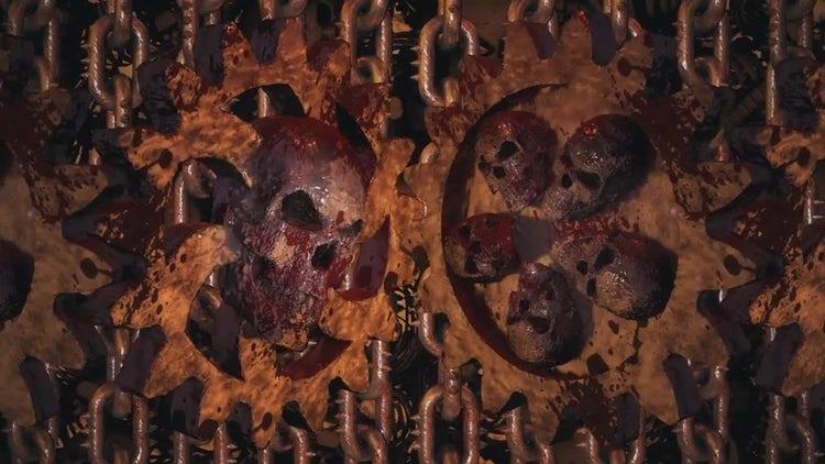 Rusty Hell Cogwheels: Stock Motion Graphics