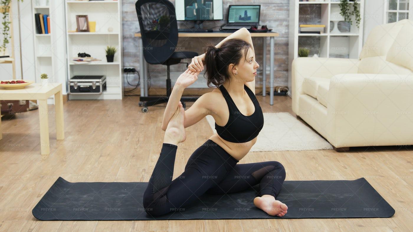 Mermaid Yoga Pose: Stock Photos