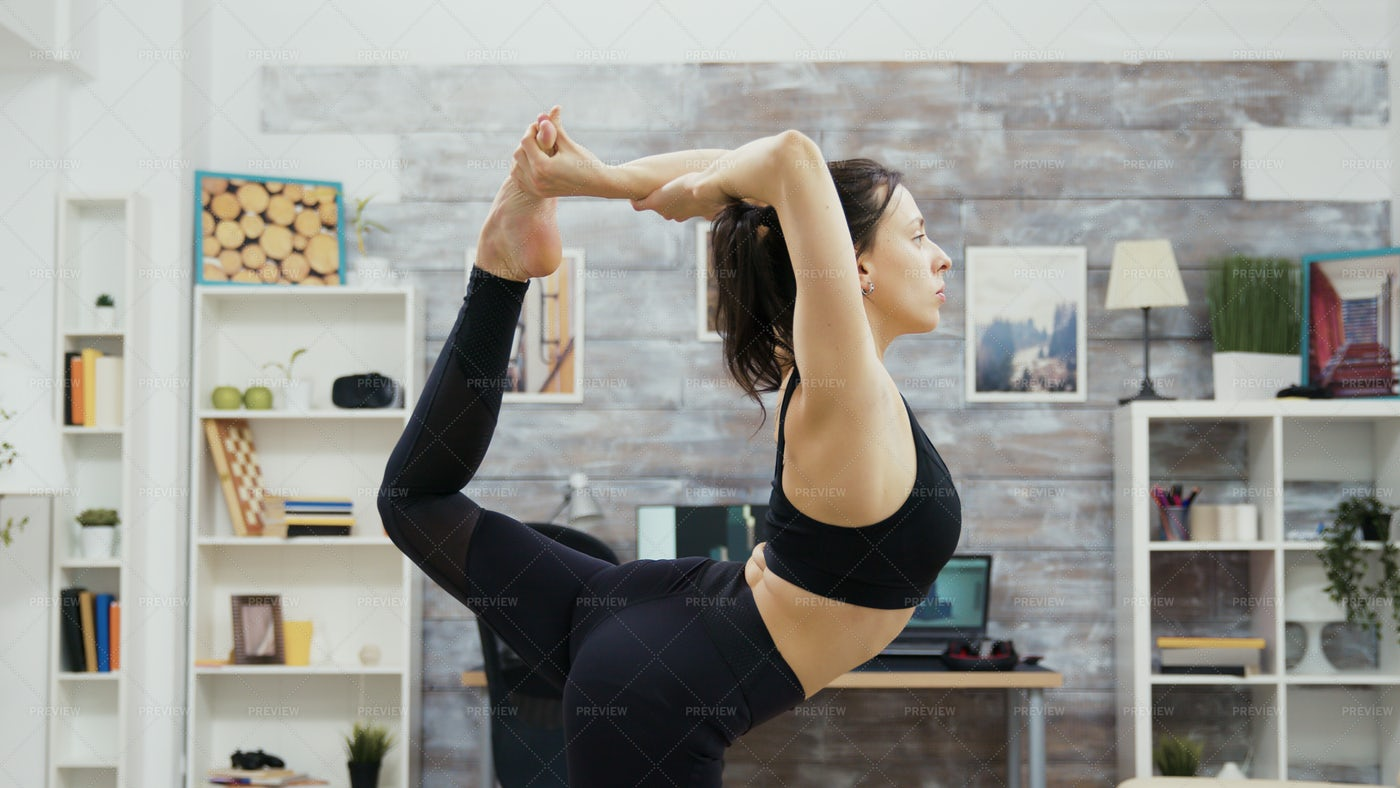 Flexible Yoga Pose: Stock Photos