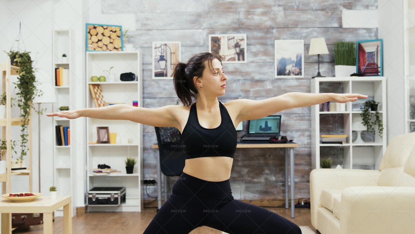 Holding Yoga Position: Stock Photos